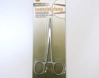 Hemostat Clamp, Smooth Jaw Hemostat Jaw, The BeadSmith Beading Tools, Stainless Steel Hemostats
