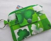 Zippy Wallet Pouch Key St Patrick's Shamrocks Card holder -