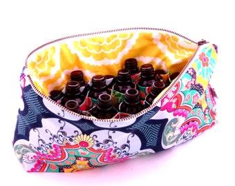Large Essential Oil Bag -Brit Boutique - 22 bottles - cosmetic bag zipper pouch essential oil bag