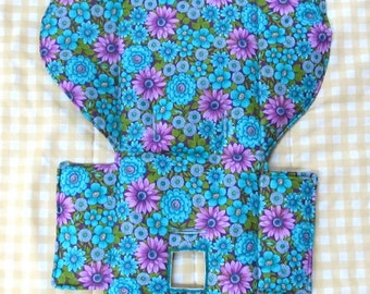 Evenflo high chair cushion, highchair cover, high chair replacement pad, baby accessory, baby and child care, baby feeding chair, dahlias