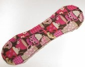 Heavy Absorb Long Peanut Pad in Coffee Lover - Reusable Cloth Pad
