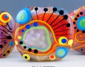Sparkling & Shiny - 3 free shaped focal beads - by Michou P. Anderson