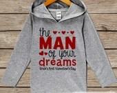 Baby Boy Valentines Outfit - Kids Hoodie - 1st Valentine Pullover - Boy Valentine's Day Toddler Hoodie - Infant Hoodie - Baby Kids Pullover