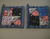 Memorial Day Americana Kitchen Potholder Set