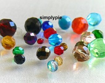 4mm to 12mm Fire Polished Faceted Czech Glass Beads 25
