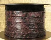25% OFF 10mm Genuine Python Skin - Dark Brown-Black - Choose Your Length