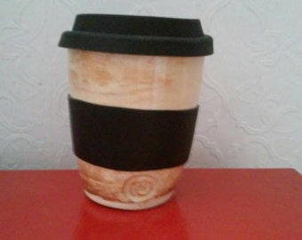 Handmade Pottery Travel Mug Handthrown Ceramic Coffee Commuter Mug
