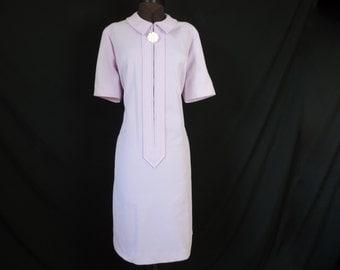 1960's mod dress atomic purple uniform dress daisy zipper pull plus size 1X