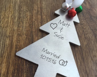 Just Married Ornament, Personalized Marriage Ornament, Newly Married Christmas Gift, First Christmas Married, Gifts For Married Couples