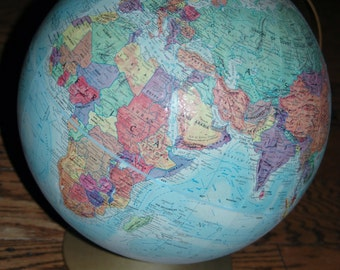 Vintage Replogle World Globe World Nation Series