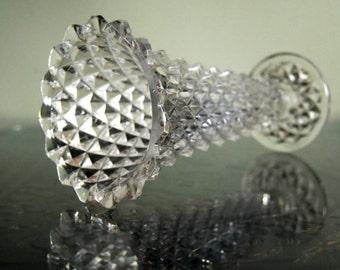 """Brilliant PRINCESS HOUSE 24% Lead Crystal 8"""" Clear Diamond Point Flower Vase"""