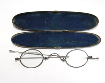 Antique Optical 1850s Eyeglasses Frames With Case // Rare Victorian Glasses // 19th Century // #C1085