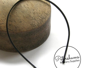 Satin 5mm Metal Headband for Fascinators & Millinery - Black