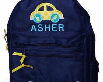 Car Backpack, Transportation Backpack, Boys Car Backpack, Personalized Backpack, Car Backpack, Monogrammed, Choose Your Own Colors