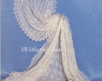 Shetland shawl knitting pattern. Instant PDF download!