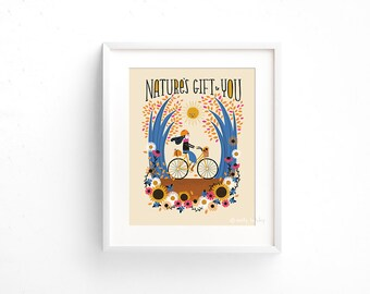 Nature's Gift to You - Giclee of an original illustration (8 x 10in)