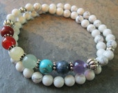 Reserved Listing for Debrorah ~ 7 Chakra Bracelet - Double wrap, with Howlite