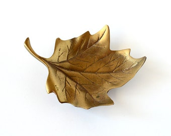 Oh, Canada | Vintage Brass Maple Leaf Trinket Dish Made in Hampton, Virginia