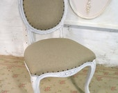 French Bedroom Chair Painted With Annie Slone Chalk Paint