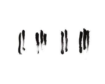 minimalist painting print: Black Keys