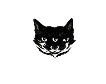 minimalist absurdist ink print: Cat