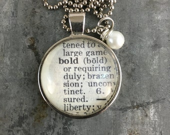 Dictionary Word Necklace - Bold