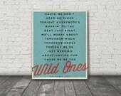 Wild Ones / Kip Moore / Digital Music Poster / Printable
