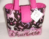 Personalize Cowgirl Sweet Pony Brown with a Splash of Pink Handbag