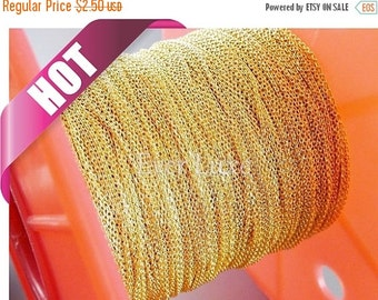 15% OFF Best selling item / 1 meter 1.3mm x 0.9mm Gold plated flat cable chains, fine chains for jewelry making, supplies B006-BG (bright go