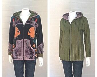 Reversible Embroidered Shredded Dog Jacket