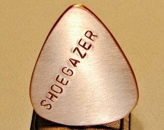 Copper Guitar Pick Handmade for the Shoegazer - GP231