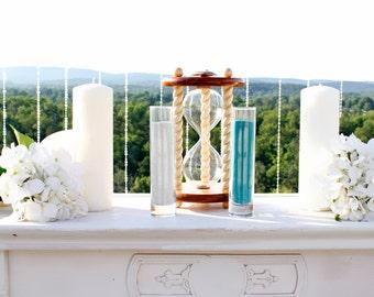 Heirloom Wedding Hourglass - The Newport Wedding Unity Sand Ceremony Hourglass