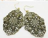 SALE Victorian Style Earrings - Pearl and Crystal Earrings - Statement Earrings - Large Earrings - Evening Jewelry - Elegant Earrings - Gift
