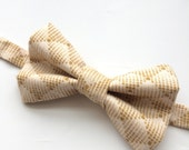 Little Guy Holiday CHRISTMAS Bow Tie - Tan Geometric (3T - 6 years) - Boy Toddler- (Ready to Ship) - Photo Prop