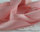 Dusty Rose Silk Ribbon, Pantone Rose Quartz