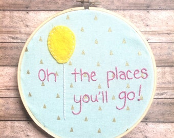 Dr Suess Oh The Places You'll Go!  Wall Decor