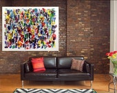 Huge Abstract Painting Original Painting Abstract Art Palette Knife Art Contemporary Painting Modern Painting Wall Art 30x40 by Len Dickson