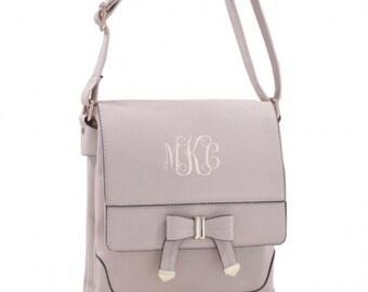 Monogrammed Cream Shoulder/Crossbody Handbag Messenger bag Monogram Included