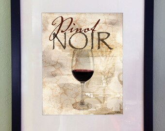 Wine Vintage Art Print, Printable Download, Kitchen Wall Decor, Digital Art