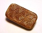 MINI Pill Box Bronze Art Deco Style Purse Accessory Retro Design Metal Slide Top Tin Vitamin Holder Handmade Gift FREE Velvet Gift Pouch