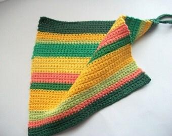 Crochet Potholder 100% Cotton in Six Different Colors