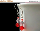 VALENTINE SALE Red Hat Ladies Style Beaded Earrings. Handmade Jewelry by Gilliauna