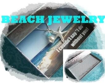 STARFISH NECKLACE - Starfish Necklaces, Starfish Jewelry, Beach Wedding Jewelry, Bridesmaid Jewelry, Starfish Jewelry, Beach Jewelry