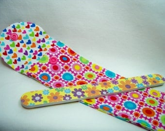 PK Board Case in Floral Geo in Pink - Nail File Case - Emery Board Case - Pencil or Pen Case - Purse Accessory - Ready To Ship