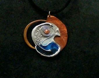 pendant with enamel