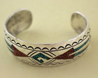 Navajo Silver Cuff Bracelet Jimmie Nezzie