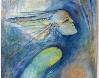 Gift of Flight - Original mixed media painting.