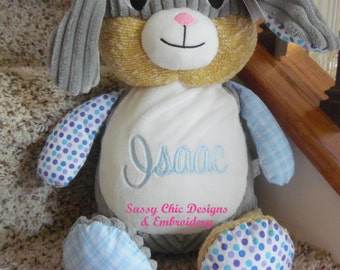 Personalized Easter Bunny,Stuffed Easter Bunny,Personalized Girl Bunny,Personalized Boy Bunny,Stuff Animal,Peter Cotontail,