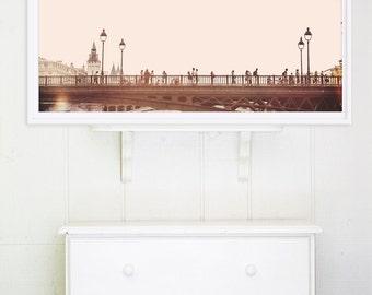 """Paris Photography // Paris Prints // Paris Architecture // Travel Photography // Panoramic Prints // Europe  - """"Paris Bridge"""""""