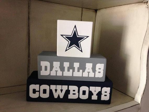 R U Ready for some Football.. New Primitive Wood Sign Blocks Football Season Man Cave Sports Fan Dallas Cowboys Atlanta Falcons Texans